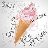 Милое мороженое Стоковое Изображение