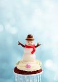 Милое пирожное снеговика Стоковая Фотография