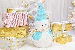Милое рождество снеговика Стоковые Изображения RF
