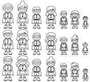 Милое собрание разнообразной диаграммы супергероев ручки или семей супергероя Стоковые Фото