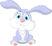 Милое усаживание кролика шаржа Стоковые Изображения