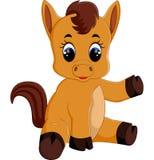 Милое усаживание лошади младенца иллюстрация вектора