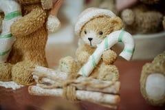 Милое фото figurines игрушки медведя Стоковое Изображение RF