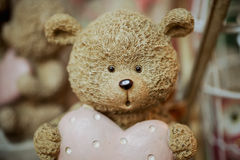 Милое фото figurines игрушки медведя Стоковые Фотографии RF