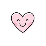 Милое emoji сердца Усмехаясь значок стороны Стоковые Фото