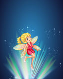 Милое fairy летание на ноче иллюстрация штока
