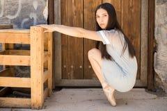 Милое pointe en артиста балета Стоковые Фотографии RF