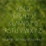 Милой письмо нарисованное рукой в запачканной предпосылке Тип Doodle S Стоковые Фотографии RF