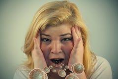 Милые бактерии рта девушки Стоковые Фото
