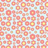 Милые безшовные цветки цветочного узора стоковые изображения