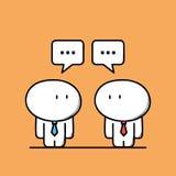 Милые бизнесмены имеют переговор бесплатная иллюстрация