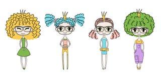 Милые девушки моды бесплатная иллюстрация