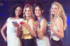 Милые девушки с коктеилями Стоковые Изображения
