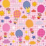 Милые животные в горячих воздушных шарах Стоковое Изображение