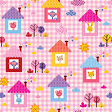 Милые животные младенца в картине детей домов Стоковое Изображение RF