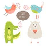 Милые животные иллюстрация штока