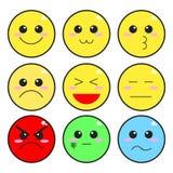 Милые значки Smiley Стоковое Изображение RF