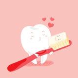 Милые зубы шаржа Стоковая Фотография