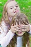 Милые 2 играя девушки Стоковая Фотография RF