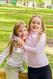 Милые 2 играя девушки Стоковые Фотографии RF