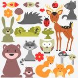 Милые дикие животные иллюстрация вектора