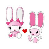 Милые кролики Стоковые Фотографии RF