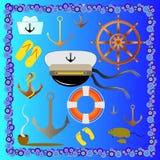 Милые морские элементы Стоковые Изображения RF