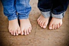 Милые ноги детей Стоковая Фотография