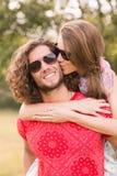 Милые пары в парке Стоковое Изображение