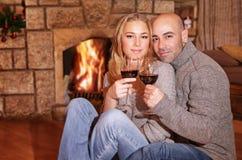 Милые пары на романтичной дате Стоковая Фотография