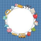 Милые персонажи из мультфильма задняя школа предпосылки к Стоковое Фото