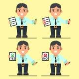 Милые работники офиса шаржа с контрольным списоком Стоковые Изображения RF