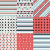 Милые различные безшовные картины (tiling) Стоковые Изображения RF