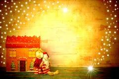 Милые рождественские открытки Санта Клауса Copyspace Стоковые Фотографии RF