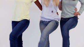 Милые друзья делая народный танец сток-видео