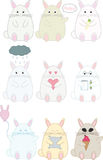 Милые смешные установленные кролики Стоковые Фотографии RF