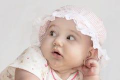 Милые счастливые лож младенца Стоковая Фотография