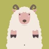 Милые тучные большие коричневые овцы рожка Стоковые Изображения