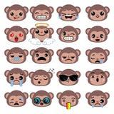 милые установленные emoticons бесплатная иллюстрация