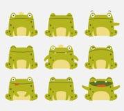 Милые лягушки бесплатная иллюстрация