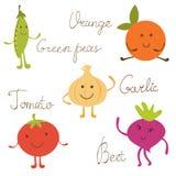 Милые vegetable установленные характеры Стоковое Фото