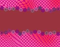 Милый абстрактный дизайн с обрамлять маргаритки Стоковые Фотографии RF