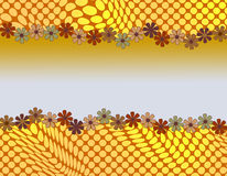 Милый абстрактный дизайн с обрамлять маргаритки Стоковые Фото