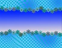 Милый абстрактный дизайн с обрамлять маргаритки Стоковая Фотография RF
