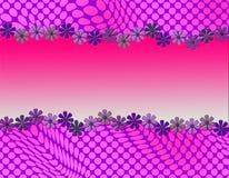 Милый абстрактный дизайн с обрамлять маргаритки Стоковая Фотография