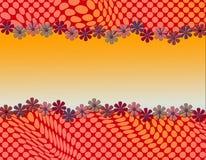 Милый абстрактный дизайн с обрамлять маргаритки Стоковое фото RF