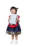 Милый азиатский корейский ребенк в костюме стоковое фото rf