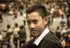 Милый азиатский парень Стоковые Фотографии RF