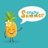 Милый ананас лета Стоковая Фотография