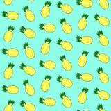 Милый ананас разделенный в половинной картине Стоковая Фотография RF